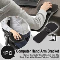 Dudukan Sandaran Tangan Meja Kursi Komputer Desktop Arm Rest Mouse Pad