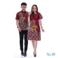 Batik Couple Baju Pesta Sarimbit Batik Set Pinguin/original Produk