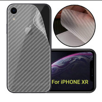 Garskin Carbon iPhone XR Anti gores Belakang handphone Back Door