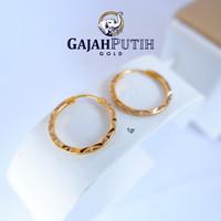 1gr Anting Model Gipsy Motif Batik Emas Asli kodeO410