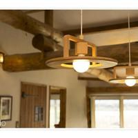 lampu gantung kayu hias minimalis retro