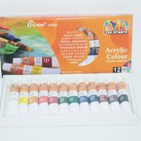 Cat arcylic/Acrylic colour NDM 12ml isi 12 warna