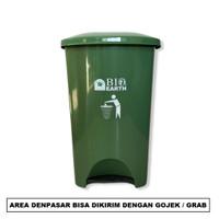 BIO EARTH Dustbin Pedal 42L - Trash Bin Tempat Sampah Injak Green Leaf