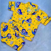 baju tidur anak / piyama anak motif Doraemon awan