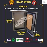 Box Panel Listrik 800x600x250mm Stainless Outdoor DoubleDoor SUS304 GT