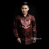kemeja batik baju batik motif garuda lengan panjang m,l,xl,xxl