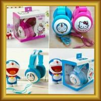 Handfree Headset Bando Karakter Hello Kitty Doraemon