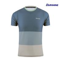 DK Daily Active Wear Tri Colors Shirt Blue - Regular Fit