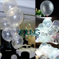 Balon transparan/Balon latex bening/Balon ultah transparan