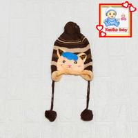 Topi Kupluk Bayi&Anak Rajut ukuran Besar Bahan Tebal Anti Dingin 03 - Topi Cewek
