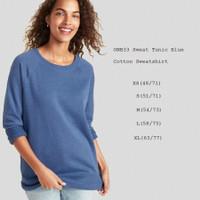 OLD NAVY 33 Sweet Tunic Blue Sweatshirt Baju Atasan Sweater Branded
