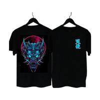 MS - BF034 Kaos Distro Pria T-Shirt Pria Kaos Pria Tanduk