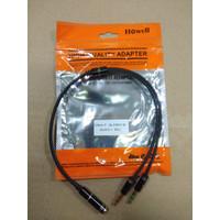 Kabel Howell Aux 3.5 Splitter 1 Female to 2 Male audio + mic spliter