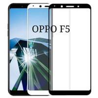 TEMPERED GLASS 9D OPPO F5 FULL LEM ANTI GORES FULL COVER BLACK