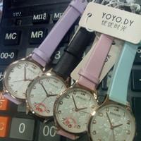 yoyody jam tangan mini korea tahan air jam analog mesin tenaga batre