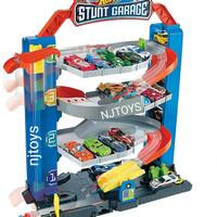 Hot Wheels Stunt Garage Trackset - Mainan Trek Mobil Balap