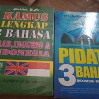 SEPAKET KAMUS LENGKAP DAN PIDATO 3 BAHASA INDONESIA-ARAB-INGGRIS