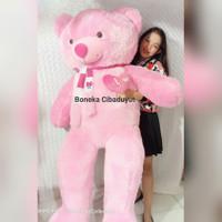 Boneka Teddy Bear Super Gede Jumbo 1,6 Meter Setinggi Orang Dewasa