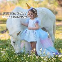 BAJUKIDDIE UNICORN PARTY DRESS RAINBOW baju pesta anak kostum pony