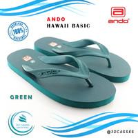 Sandal ANDO Hawaii Basic Hijau - Sandal Jepit Pria Original - 39