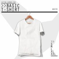 GARUDABALI Baju Kaos Polos Cotton Combed Tshirt Pria & Wanita WHITE