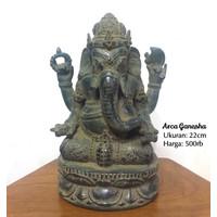 Arca | Patung Ganesha 22cm | detail halus bahan kuningan