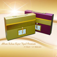 Cetak Album Kolase Premium Koper Vynil 10 Sheet Doff / Glossy