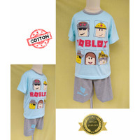 Baju Tidur Stelan Kaos Anak Cowok Roblox SDD