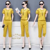 zl - St setelan baju wanita stelan casual cewek import Korean terbaru