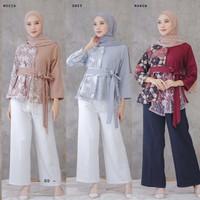Blouse batik/Baju Batik Wanita/Blus Batik Kondangan Baju Kantor BL 09