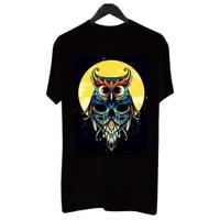 MS BF031 Kaos Distro Pria T-Shirt Pria Kaos Pria Burung Hantu