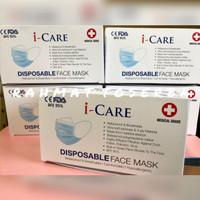 Masker 3ply isi 50 earloop Icare Medical Grade