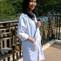 Markotop Jas Lab Lengan Panjang Putih Baju Praktikum Laboratorium - S