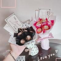 Buket double ferrero mini / bucket coklat murah valentine