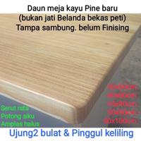 daun meja kayu top table Pine baru. bukan jati Belanda bekas palet