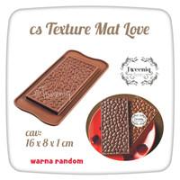 cetakan silikon Texture Mat Love cokelat chocolate bar mold bagus