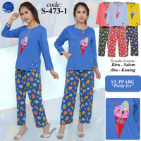 Baju anak perempuan usia 12-14t piyama forever pps473-1