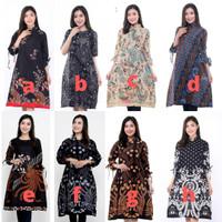 Baju batik wanita - atasan batik wanita tunik modern murah