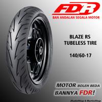 BAN FDR RADIAL BLAZE RS 140/60-17 TUBELESS TIRE MOTOR SPORT NINJA 250