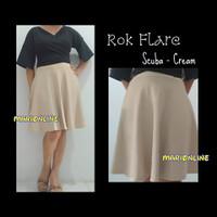 rok midi umbrella flare skirt hitam black