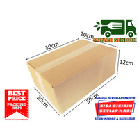 Kardus Packing Karton Packing Box Packaging Polos Baru 30x20x12cm