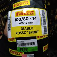 Ban matik Vario Beat Mio PIRELLI DIABLO ROSSO SPORT 100/80-14 ring 14