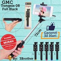 Tongsis Kabel GMC Lipat Full Black Selfie Stick Mini Universal