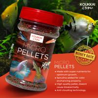 Micro Pellets Koukkai 85gr untuk cupang,guppy, tetra,angel fish