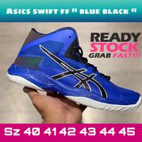 Asics swift ff blue black - sepatu volly pria original import quality