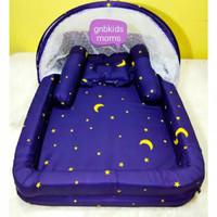 paket kasur bayi kolam kelambu set baru lahir
