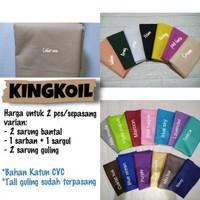 (2 pcs) Sarung Bantal Guling KING KOIL Katun Premium