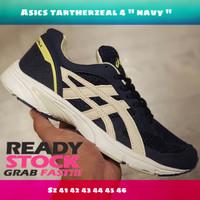 Asics tartherzeal 4 navy green / sepatu volly pria original import