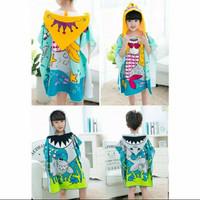 baju handuk ponco renang / baju handuk anak / ponco karakter anak