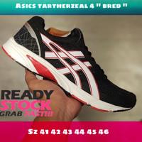 Asics tartherzeal 4 bred / sepatu volly pria original import